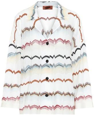 Missoni Zigzag cotton-blend shirt