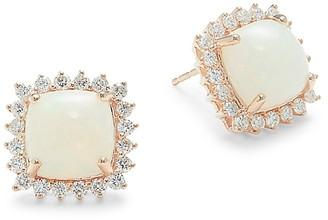 Saks Fifth Avenue 14K Rose Gold, Opal Diamond Cushion-Cut Earrings