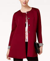 Alfani Collarless Cuffed-Sleeve Jacket, Created for Macy's