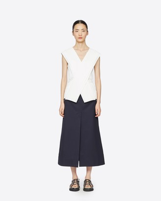 3.1 Phillip Lim Knife Pleated Crossover Top