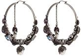 Alexander McQueen Swarovski crystal natural pearl creole earrings