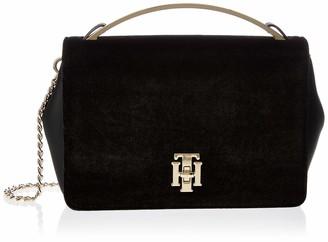 Tommy Hilfiger Womens Th Lock Crossover Vt Cross-Body Bag Black (Black)