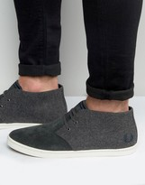 Fred Perry Byron Mid Wool/suede Chukka Boots
