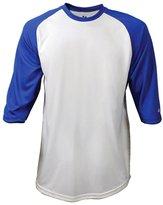 Badger Performance 3/4 Sleeve Raglan-Sleeve Baseball T-Shirt 4133 White/Navy 2XL