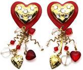 Mam MAM' Heart Clip Earrings