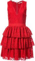 Alice + Olivia Alice+Olivia - sleeveless ruffled dress - women - Nylon/Polyester/Spandex/Elastane - 0