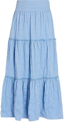 Intermix Patrice Tiered Midi Skirt