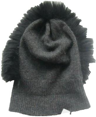 CHARLOTTE SIMONE Grey Cashmere Hats