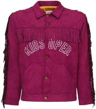 Kidsuper Studios Fringed Faux Suede Shirt Jacket