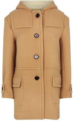 Chloé Wool-Mohair Hooded Coat