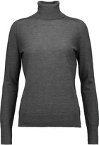 J Brand Atiya leather-trimmed merino wool turtleneck sweater