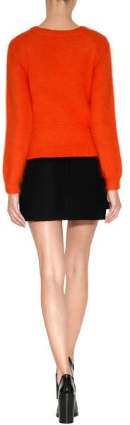 J.W.Anderson Angora Blend Raglan Sleeve Pullover in Orange