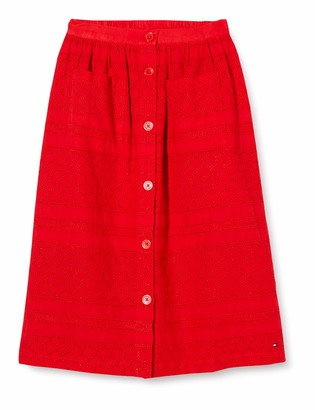 Tommy Hilfiger Girl's Broderie Anglaise MIDI Skirt