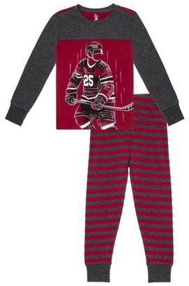 Petit Lem boys' do not disturb 2pc pajama set: long sleeve top & pant (little boys and big boys)