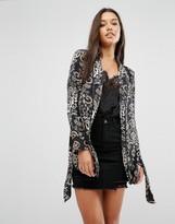 Missguided Paisley Print Kimono Sleeve Jacket