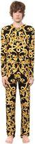 Versace Underwear Baroque Printed Viscose Pajamas