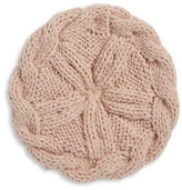 Collection 18 Cableknit and Ball-Trimmed Knit Beret