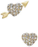 Kate Spade 14k Gold-Plated Pavé Heart and Arrow Stud Earrings