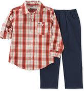Kids Headquarters Baby Boys' 2-Pc. Long-Sleeve Plaid Shirt & Pants Set