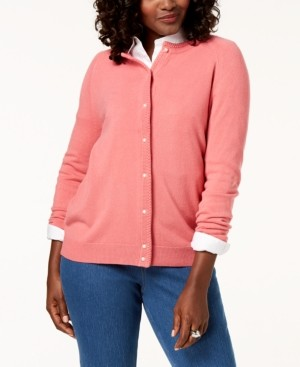 Karen Scott Petite Luxsoft Button Cardigan, Created for Macy's
