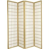 Oriental Furniture 6-Feet Window Pane Japanese Shoji Folding Privacy Screen Room Divider