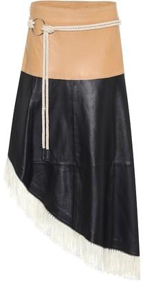 Stand Studio Amelia leather midi skirt