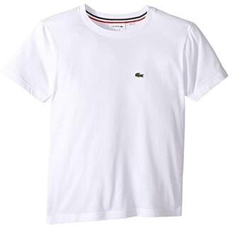 Lacoste Kids Short Sleeve Solid Crew T-Shirt (Toddler/Little Kids/Big Kids) (White) Boy's T Shirt