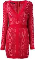 Balmain Moire patterned mini dress