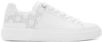 Balmain White Logo B-Court Sneakers