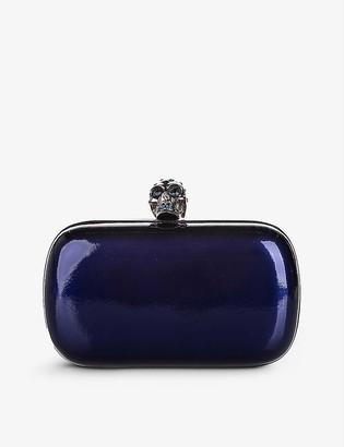 Resellfridges Pre-loved Alexander McQueen patent-leather clutch bag