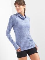 Gap Stripe mockneck raglan pullover