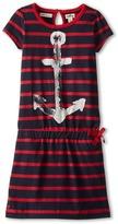 Hatley Nautical Red Stripes Drop Waist Dress (Toddler/Little Kids/Big Kids)