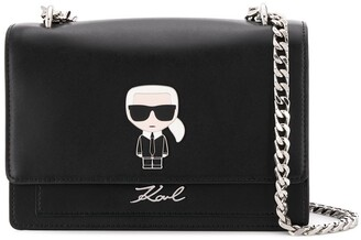 Karl Lagerfeld Paris K/Ikonik Metal Lock Shoulderbag