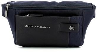 Piquadro Mens Blue Belt Bag