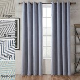 COFTY Polyester Chenille Jacquard Zig Zag Wave Soft Handfeel Curtain Panel Drapes - Nickle Grommet - Inch (1 Panel)