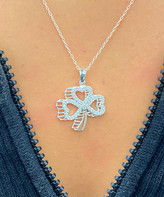 Swarovski Sevil 925 Women's Necklaces - Sterling Silver Clover Pendant Necklace With Crystals