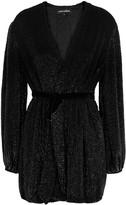 retrofete Gabrielle Black Sequin Mini Dress