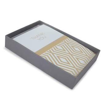"""Hallmark 50-Count """"Blue and Gold"""" Assorted Thank You Note Set"""