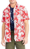 Chaps Big and Tall Printed Short-Sleeve Cotton Sport Shirt