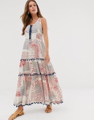 Raga Dixie tile print maxi dress-Multi