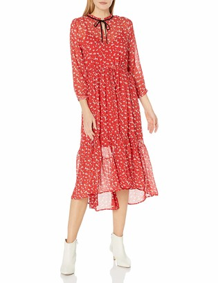 Lucky Brand Women's Ryan Long Sleeve Midi Dress