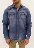 Diesel Men's Long Sleeve Shirt Sonora Denim S