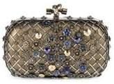 Bottega Veneta Chelsea Knot Embellished Karung Clutch