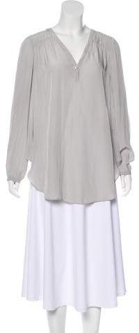 Calypso Long Sleeve V-Neck Blouse