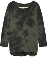 Raquel Allegra Tie-dyed Cotton-blend Jersey Top - Army green