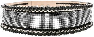 Balmain High Waist Chain Belt in Black & Silver | FWRD