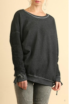 Umgee USA Mineral Washed Crewneck Sweater