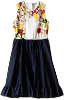Dolce & Gabbana Fiori Denim Dress (Big Kids)