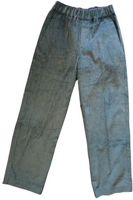 Isabel Marant Blue Cotton Trousers
