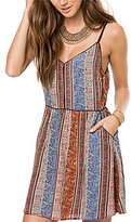 O'Neill Anitta Printed V-Neck Sleeveless Fit-and-Flare Dress